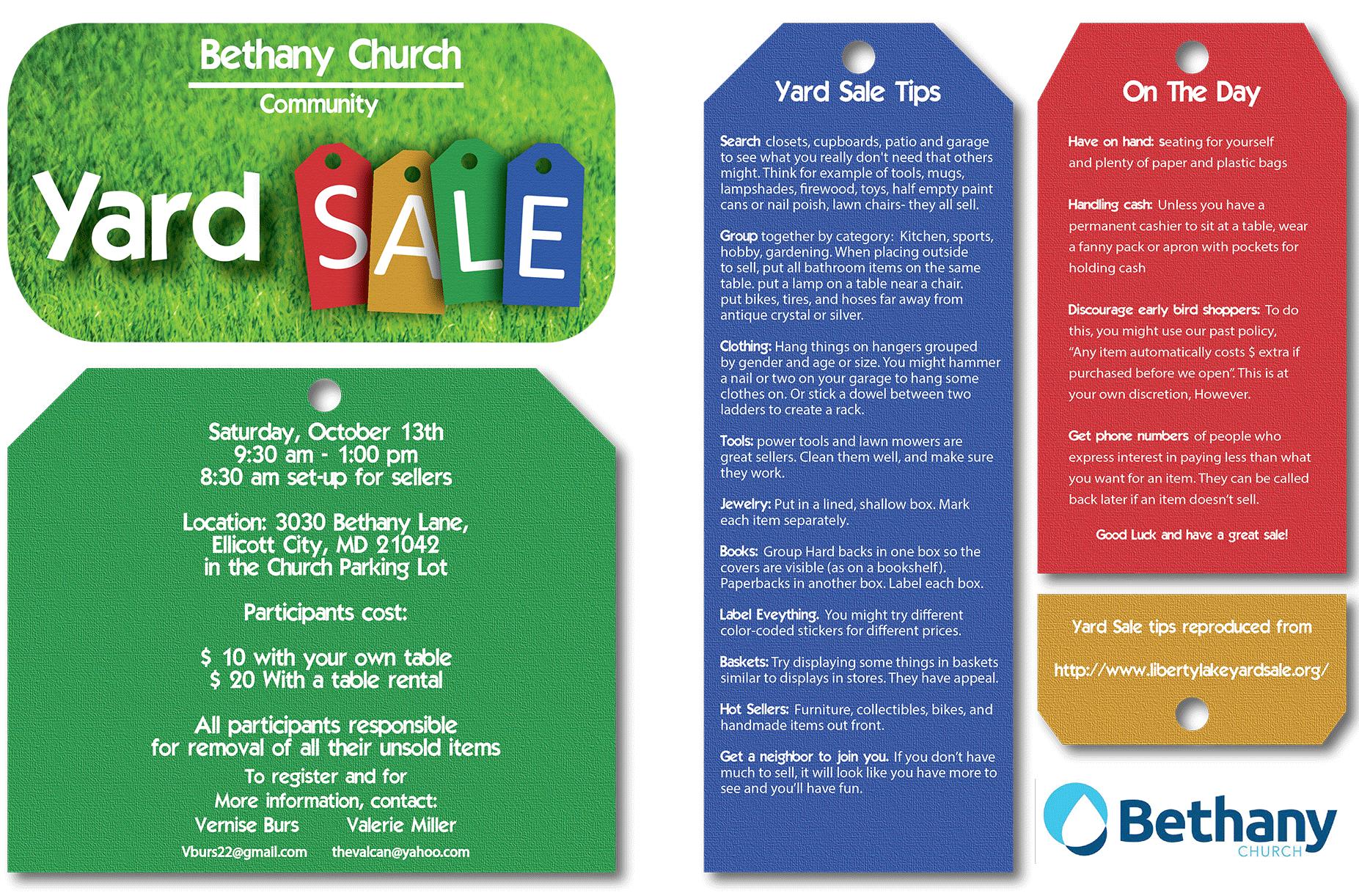 Yard Sale 2018 Bethany Church